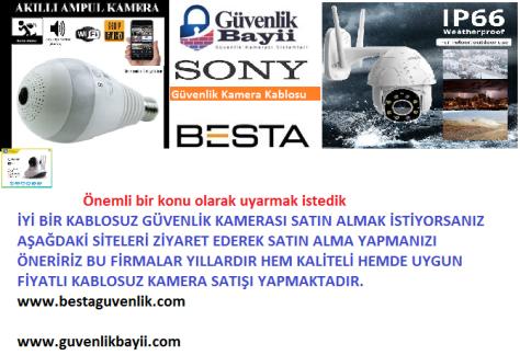 Kablosuz ip güvenlik kamerası satışı